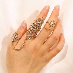 🌟 Beautiful Exotic Style Rhinestone Mitten
